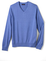 Classic Men's Big Cotton Modal V-neck Sweater-True Navy Heather