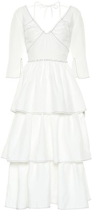 REJINA PYO Cleo linen-blend midi dress