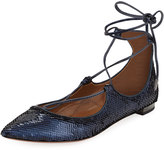 Aquazzura Christy Sequin Ballerina Flat,