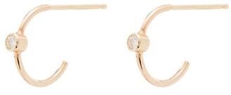 Zoë Chicco 14kt Yellow Gold Diamond Huggie Hoop Earrings