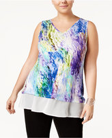 Belldini Plus Size Layered-Look Top