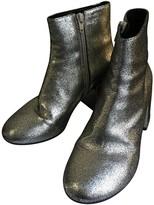 Maison Margiela Silver Leather Boots