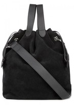 Meli-Melo Hazel Black Suede Bucket Bag