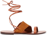 Sandro Leather and suede sandals