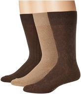 Cole Haan Textured Argyle Crew 3-Pack Men's Crew Cut Socks Shoes