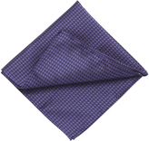 Oxford Silk Tie Pocket Square Purple X