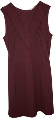 Sandro Burgundy Polyester Dresses