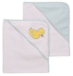 Little Me Classic Duck 2 Pack Hooded Towel Set