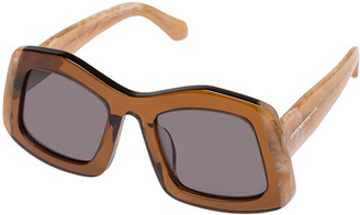 Karen Walker Wyndham Oversized Square Sunglasses
