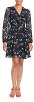Betsey Johnson Floral Tie-Neck Dress