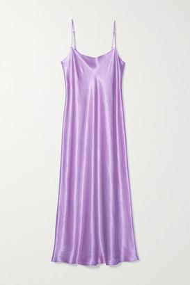 Vince Satin Midi Dress - Lavender