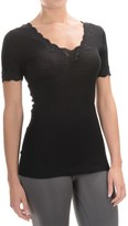 Calida Richesse Top - Wool-Silk, Short Sleeve (For Women)