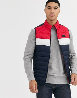 Jack and Jones Essentials gilet with stand collar-Red