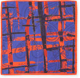 Bugatchi Striped Paisley Silk Pocket Square