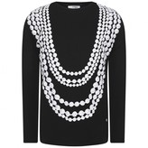 Relish RelishGirls Black Necklace Print Top
