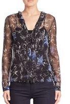 Elie Tahari Verda Floral Silk Blouse