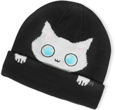 Karl Lagerfeld Peek a Boo Cat Women's Beanie Hat