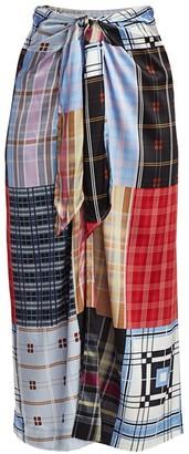 Ganni Stretch Silk & Satin Skirt