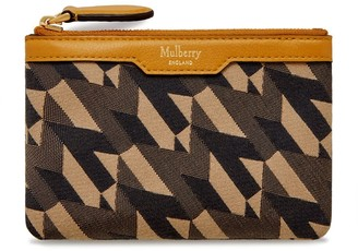 Mulberry Zip Coin Pouch Deep Amber M Jacquard