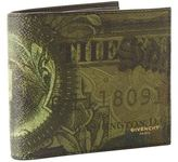 Givenchy Money Print Bifold Leather Wallet