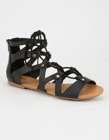 Soda Sunglasses Lace Up Womens Gladiator Sandals