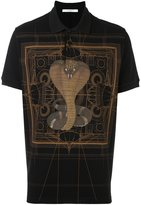 Givenchy cobra print polo shirt