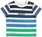 HUGO BOSS Stripes Printed Cotton Jersey T-Shirt