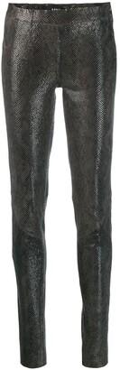 Arma Snakeskin Effect Skinny Trousers