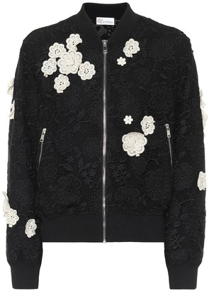 RED Valentino guipure-lace bomber jacket
