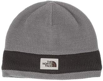 The North Face TNF Logo Stripe Beanie (Mid Grey/Asphalt Grey) Beanies