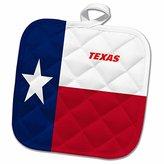 3dRose Florene State Flags - State Flag Of Texas - 8x8 Potholder (phl_45021_1)