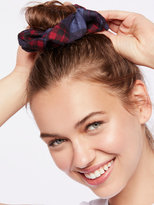 Free People Plaid Scrunchie