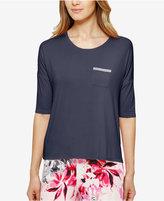 Ellen Tracy High-Low Knit Pajama Top