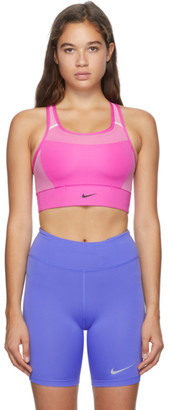 Nike Pink Swoosh Sports Bra