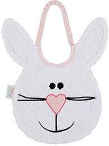Zigozago Bunny Bib-WHITE, PINK
