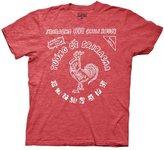 Ripple Junction Sriracha Bottle Label Men's T-Shirt   XXL