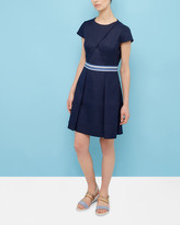 Ted Baker Colour-block pleated dress