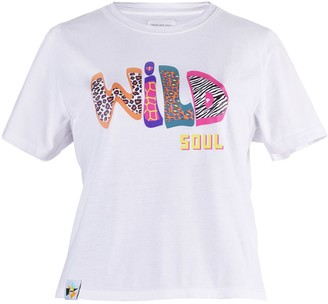 Blonde Gone Rogue Wild Soul Vegan T-Shirt In White