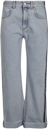 Alexander McQueen Straight-leg Cropped Jeans