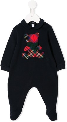 Il Gufo plaid teddy patch babygrow