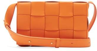 Bottega Veneta Cassette Small Intrecciato Leather Cross-body Bag - Womens - Orange