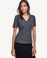 Ann Taylor Petite Geo Jacquard Seamed Top