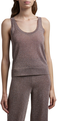 Missoni Metallic Knit Tank Top