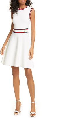 Ted Baker Apryll Contrast Stripe Sleeveless Fit & Flare Dress
