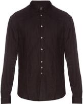 John Varvatos Button-cuff linen shirt