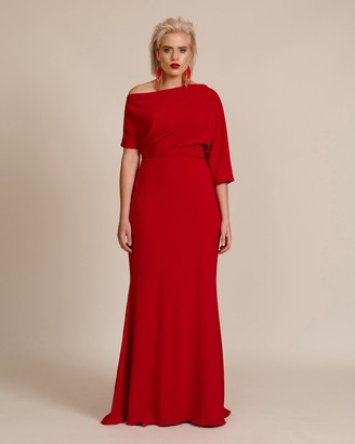 Badgley Mischka Off Shoulder Gown