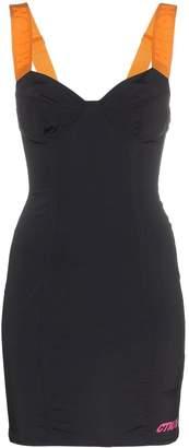 Heron Preston zip back bustier mini dress