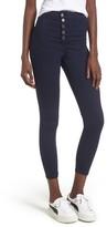 Topshop Women's Joni Button Front Skinny Jeans