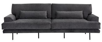 """Collett 93"""" Square Arms Sofa AllModern Upholstery Color: Gray"""