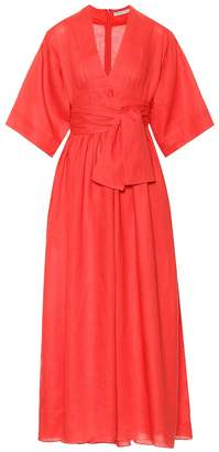 Three Graces London Ferrers linen midi dress